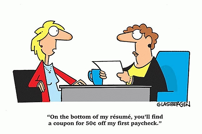 Stop giving discounts on your salary - Cartoon of the week